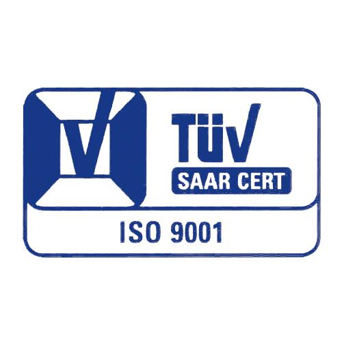 TÜV Saar nach ISO DIN EN ISO 9001 zertifiziert